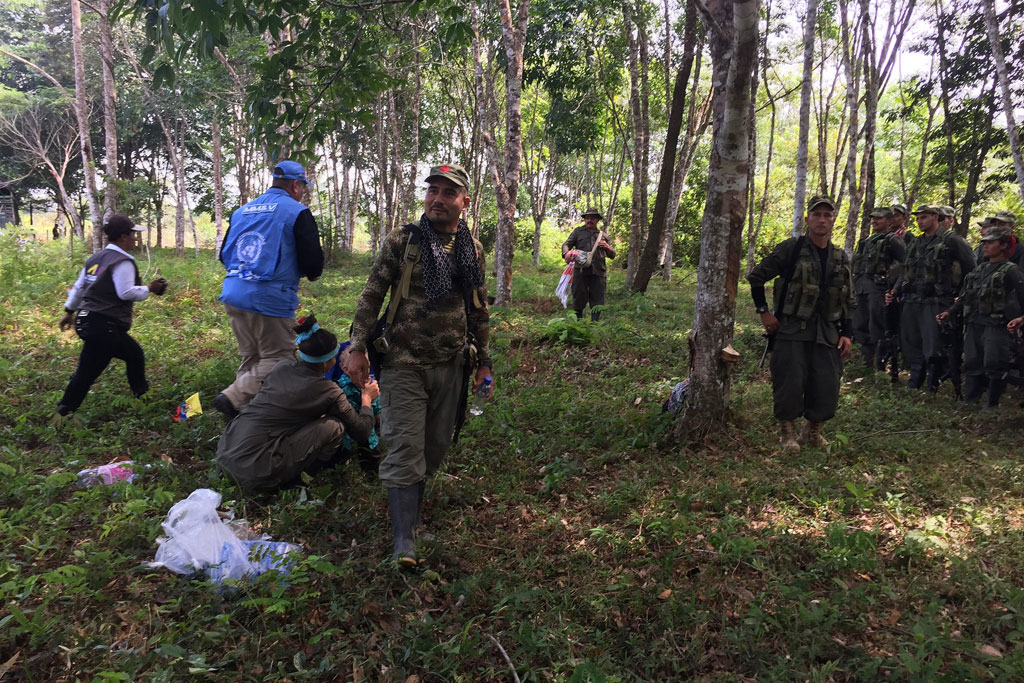 Please allow images for this mail. On this image: 'HISTORIC' DAY AS LAST FARC-EP MEMBERS GATHER TO TURN IN ARMS -- UN MISSION IN COLOMBIA