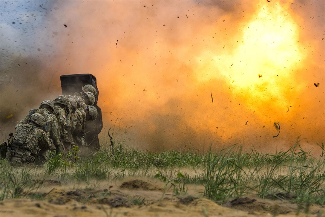 Army engineers conduct demolition training at the training area in Bemowo Piskie, Poland, June 8, 2017, as part of the Saber Strike 17, a U.S. Army Europe-led multinational combined forces exercise to enhance the NATO alliance throughout the Baltic region and Poland. Army photo by Sgt. Justin Geiger